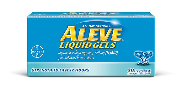 Aleve Liquid Gels Naproxen Sodium Capsules 220mg 20ct
