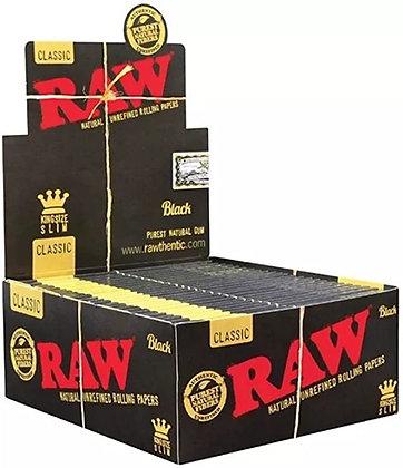 RAW CLASSIC BLACK KING SIZE X 50