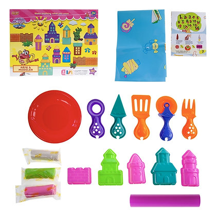 IPLAY - TOY DOUGH PLAY SET, BUILDINGS, 2 STYLES ASST