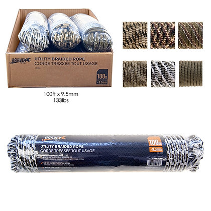 HARVEY TOOLS - DIAMOND BRAID ROPE, HANK PACKING