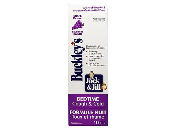 Buckley's Jack & Jill Bedtime Cough & Cold Grape Flavour Syrup  115mL