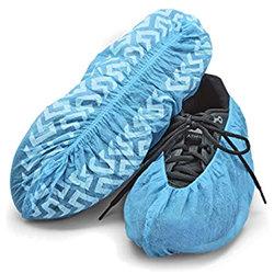 ANTI-SLIP BLUE SHOE COVER LARGE 100/PQT 100/PQT POLYPROPYL�NE
