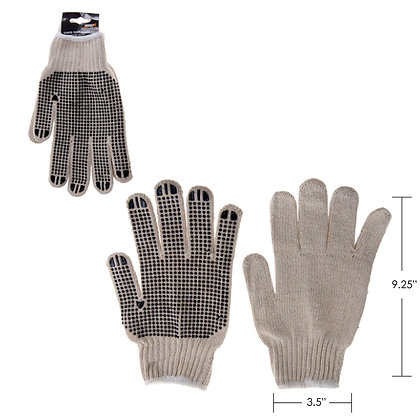 HARVEY TOOLS - POLYESTER KNIT GLOVE WITH PVC GRIP, 900G/M, 1