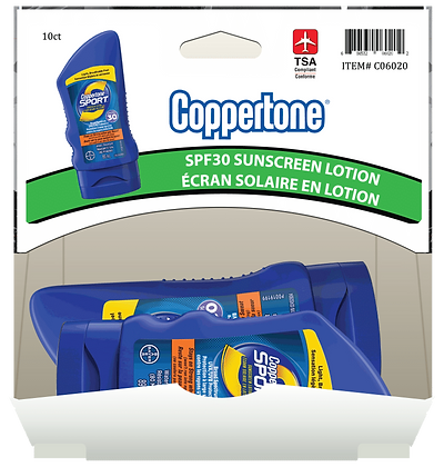 Coppertone Sport SPF30 Sunscreen 89mL, 10ct Gravity Pack