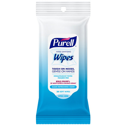 Purell Hand Sanitizing Wipes Clean Refreshing Scent 10ct