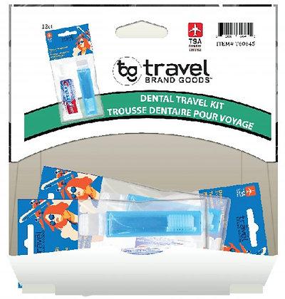 Travel Brand Goods 2pc Dental Travel Kit 12ct Gravity Pack