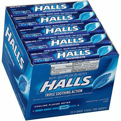 HALLS DROPS 9PACK X 20 MENTHOL LYPTUS