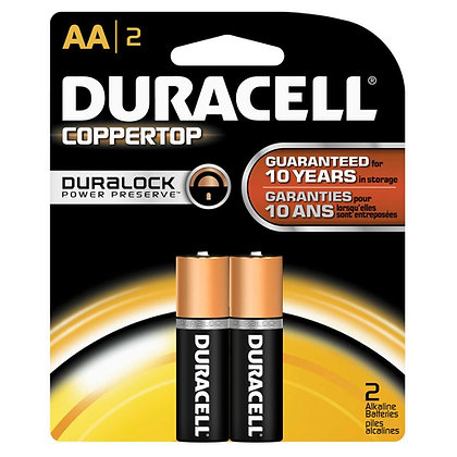 DURACELL - BATTERIES - AA-2PK - MADE IN USA