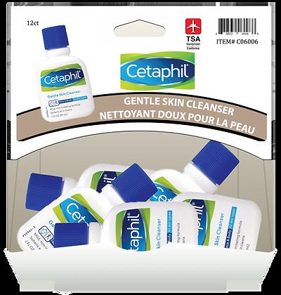 Cetaphil Gentle Facial Cleanser 60mL, 12ct Gravity Pack