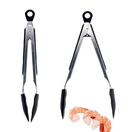 METAL AND SILICONE TONGS