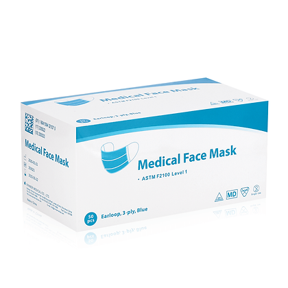 3 PLY DISPOSABLE SURGICAL MASK BOX OF 50