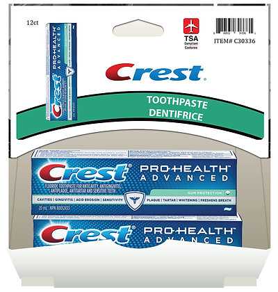 Crest Pro-Health Advanced Toothpaste Gum Protection 20mL, 12ct Gravity Pack