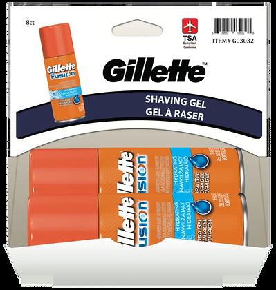 Gillette Fusion Hydra Shaving Gel 71g, 8ct Gravity Pack