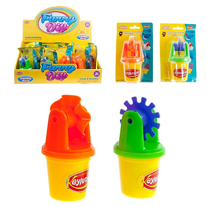 IPLAY - TOY DOUGH WITH TOOL, ASST COLOURS, 16PCS DISPLAY