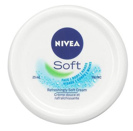 Nivea Soft Refreshingly Soft Moisturizing Cream with Jojoba Oil & Vitamin E 25mL