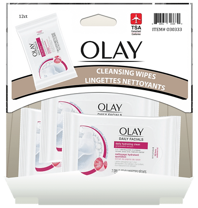 Olay Hydrating Clean Daily Facials 7ct, 12ct Gravity Pack