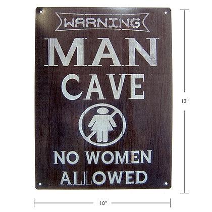 """TIMBER - TIN SIGN """"MAN CAVE"""""""