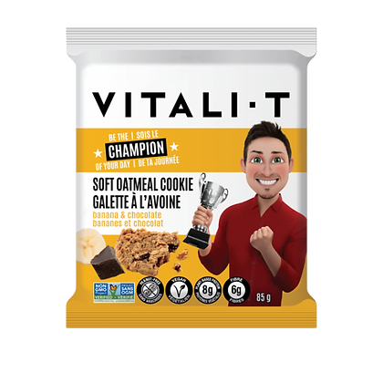VITALI T COOKIE BANANA CHOCOLATE 24X85 GR