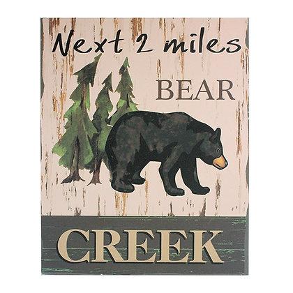 """OLYMPIA CUBS - SIGNAGE """"NEXT 2 MILES BEAR CREEK"""""""