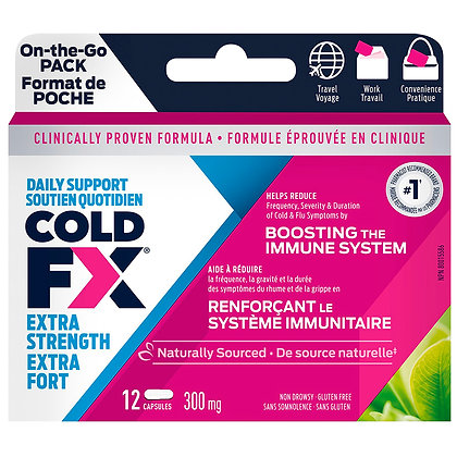 Cold FX Daily Support Extra Strength Capsules 300mg 12ct