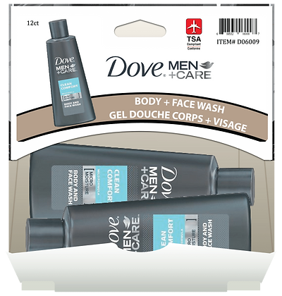 Dove Men+Care Body Wash 88mL, 12ct Gravity Pack