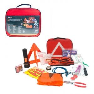 HARVEY TOOLS - EMERGENCY ROADSIDE SAFETY KIT, 62PCS
