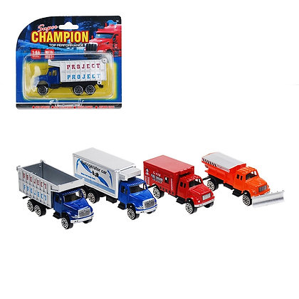 TOY TRUCKS, 8 ASST COLORS, CARDED