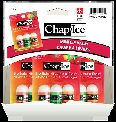 Chap Ice Mini Bullet Lip Balm Asst. 3x3g, 12ct Gravity Pack