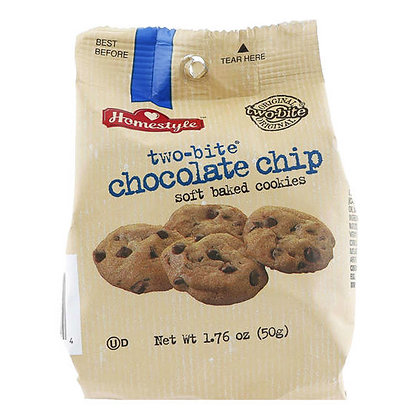 HOMESTYLE TWO BITE CHOCO CHIPS 10X50 GR