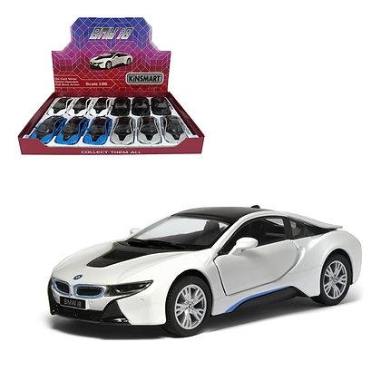 "KINSMART - 5"" BMW I8, 12PCS DISPLAY"