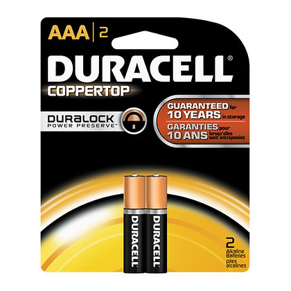 DURACELL - BATTERIES - AAA-2PK - MADE IN USA