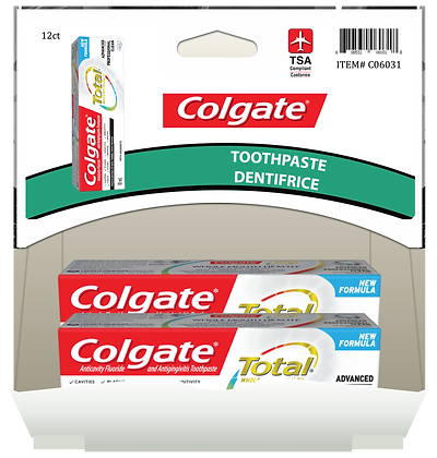 Colgate Total Advanced Health Pro Clean Toothpaste 18mL, 12ct Gravity Pack