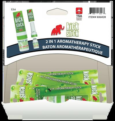 Kick Stick 2 in1 Aromatherapy Stick 2mL, 12ct Gravity Pack