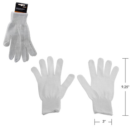 HARVEY TOOLS - POLYESTER BLENDED GLOVE, WHITE, 12 PAIRS