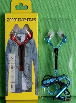 Wholesale Zippers Earphones / Ecouteurs Fermeture-Éclair