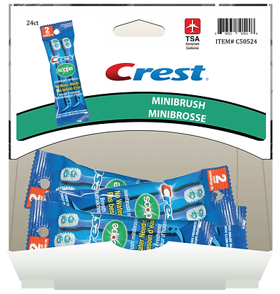 Crest Scope Minibrush 2ea, 24ct Gravity Pack