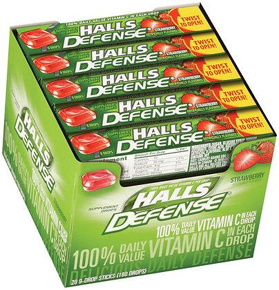 HALLS DROPS 9PACK X 20 VIT. C