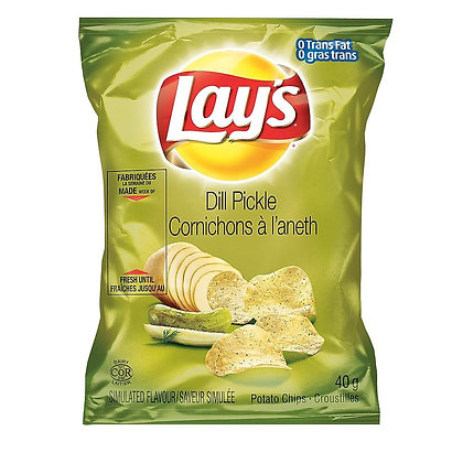 HOS LAYS DILL PICKLE 40X40 GR
