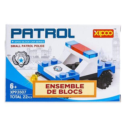 IPLAY - TOY BUILDING BRICKS, 22PCS POLICE PATROL