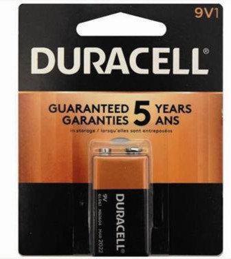 DURACELL - BATTERY - 9v-1PK - MADE IN USA
