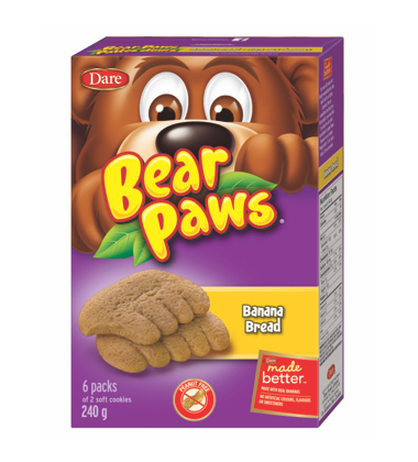DARE BEAR PAWS BANANA 6X40 GR