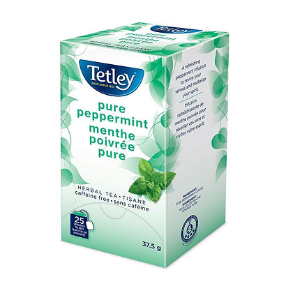 TETLEY TEA ENV PURE PEPPERMINT 25 CT