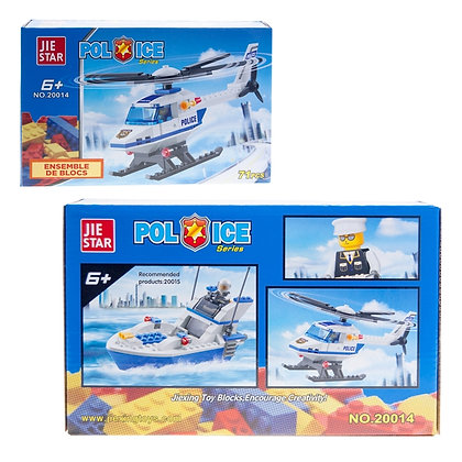 IPLAY - TOY BUILDING BRICKS, POLICE HELICOPTER