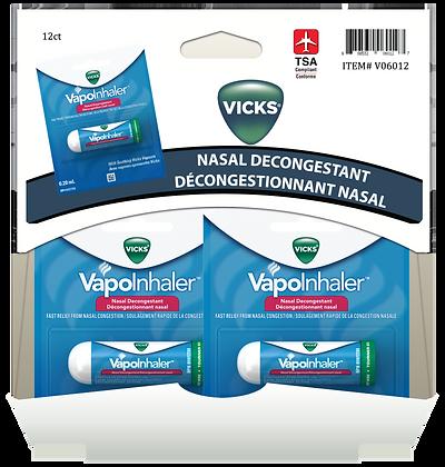 Vicks VapoInhaler 0.2mL, 12ct Gravity Pack