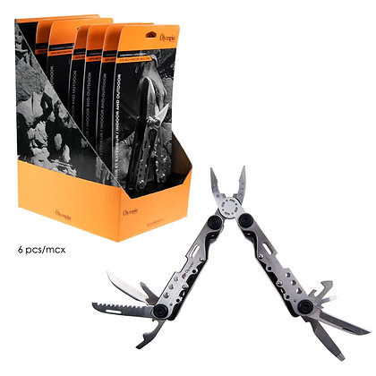 OLYMPIA - MULTI TOOL, 12 FUNCTION, SILVER, 6PCS DISPLAY