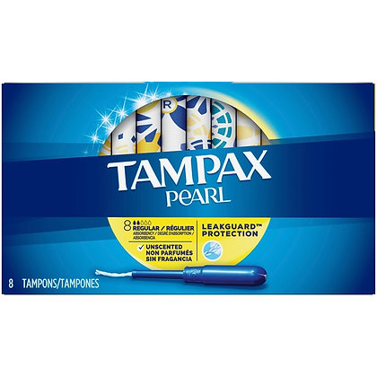 Tampax Pearl Super Absorbency Unscented Tampons 8ct