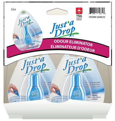 Just a Drop Odour Eliminator 6mL, 12ct Gravity Pack