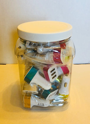 Triple Car Chargers Jar of 20