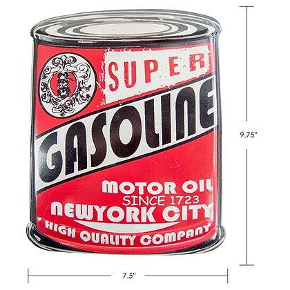 "TIMBER - TIN SIGN ""SUPER GASOLINE"""