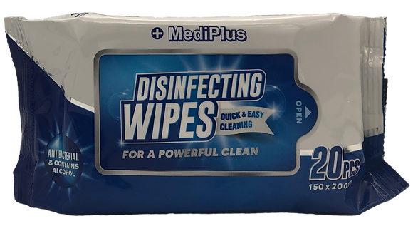 Alcool Wipes Pack of 20